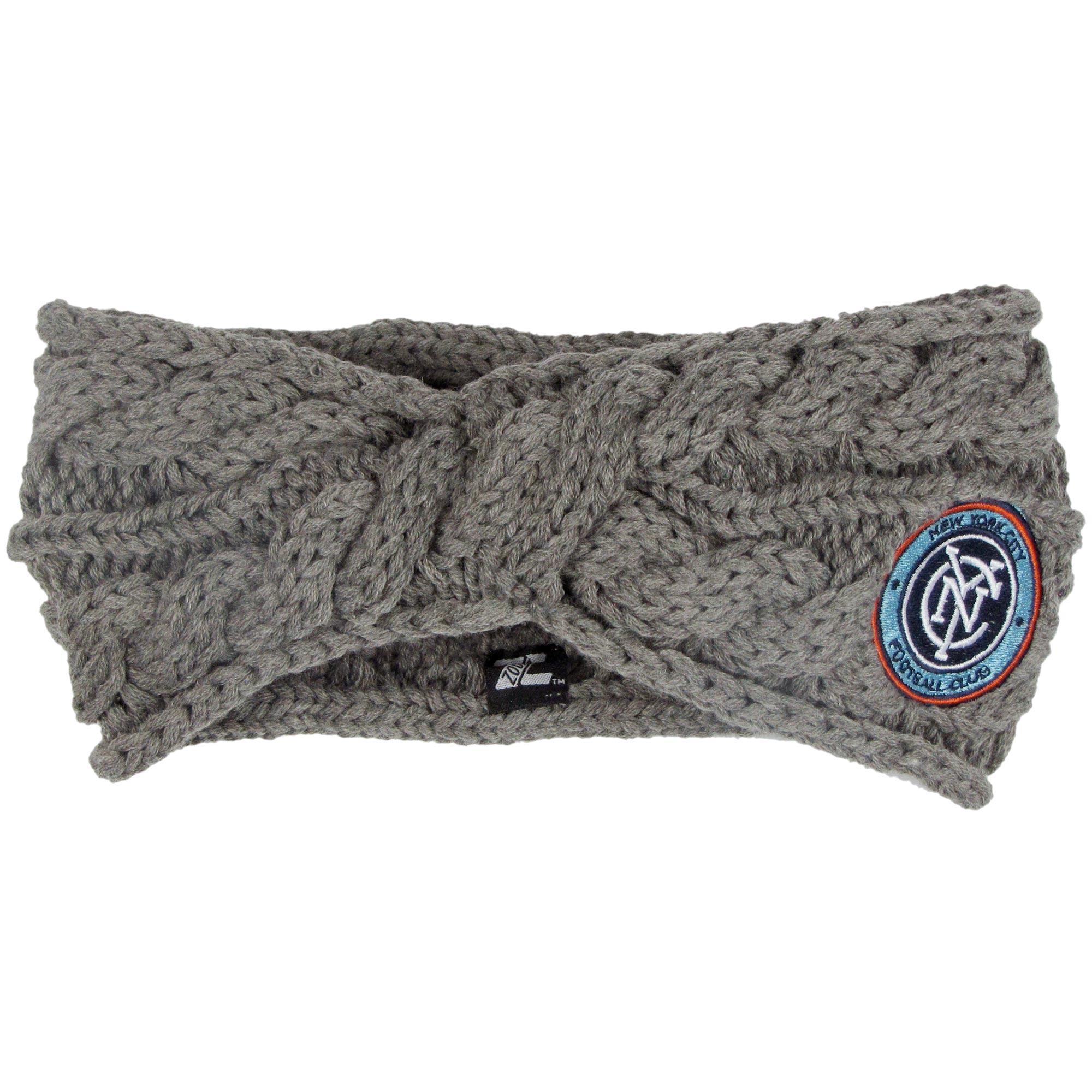 New York City FC ZooZatz Women's Cable Headband - Charcoal - No Size
