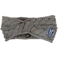 New York City FC ZooZatz Women's Cable Headband - Charcoal - No Size