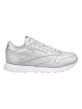 120bbc553f3 Product Image Reebok Classic Leather SYN Womens Shoes Diamond silver  Met Grey White bd5757