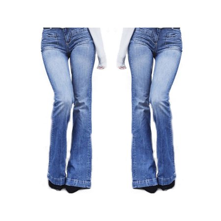 Flared Jeans Cut Pants - Womens Flared Jeans High Waist Casual Denim Pants Boot Cut Trousers