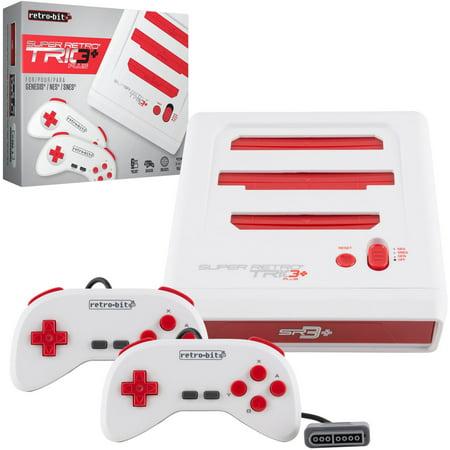 Retro-Bit Super RetroTrio+ Plus HD Nintendo SNES/NES/Sega Genesis 3 in 1 Video Game Console 720p HDMI
