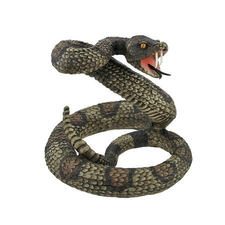 Striking Diamondback Rattlesnake Snake Statue Figurine by Private Label (Animated Snake)