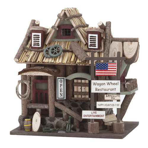 Zingz & Thingz Country Bar and Grill 10 in x 9 in x 7 in Birdhouse by Zingz & Thingz