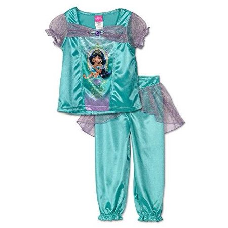 Disney princess disney big girls 39 princess jasmine pajamas green purple size 2t - Robe jasmine disney ...