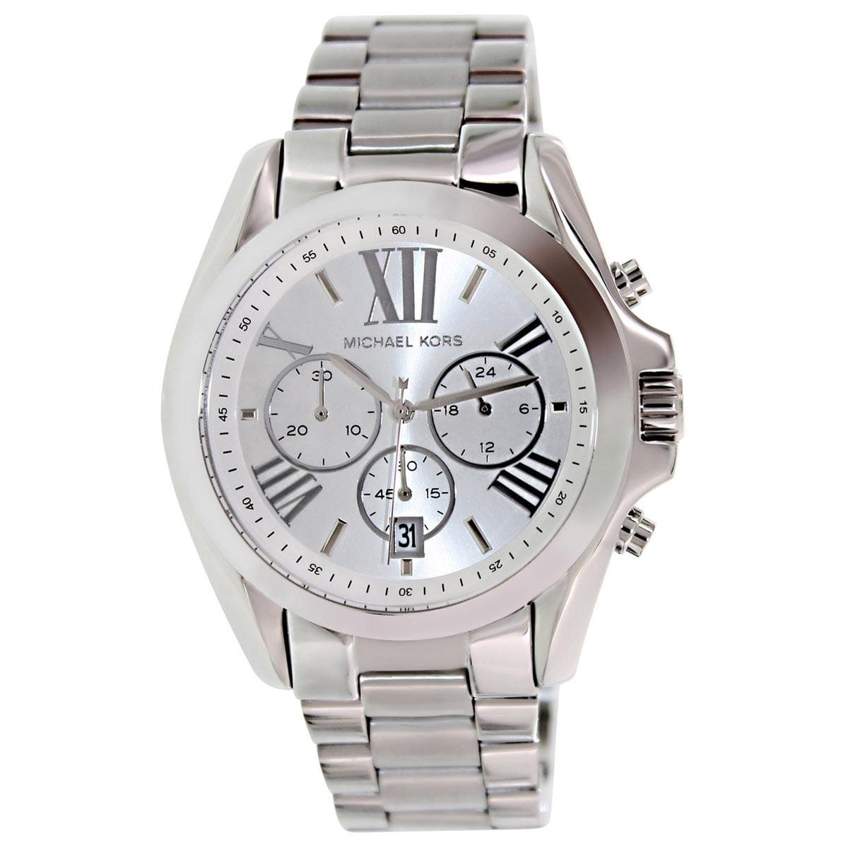 Michael Kors MK5535 Women's Bradshaw Silver Tone Dial Stainless Steel Bracelet Chronograph Watch