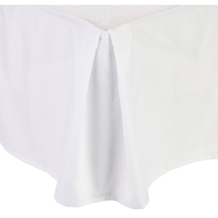 100 Gsm Bed Skirt  Dust Ruffles Wrinkle Free Egyptian Quality Solid   Pleated Tailored 14  Drop   All Sizes And Colors   California King  White  California King    By Elegant Comfort