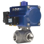 DYNAQUIP CONTROLS Ball Valve,1 In NPT,Double Acting,SS PYSA5AJD05A