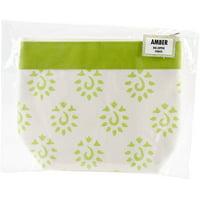 Neon Green - Amber Big Zipper Pouch