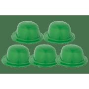 (5 Pack) Green Derby Hat
