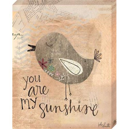 Artistic Reflections CV1028-1114 11 x 14 in. You Are My Sunshine Canvas Gallery Wrapped Art Print