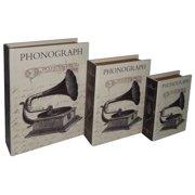 3-Pc Paris Phonograph Book Box