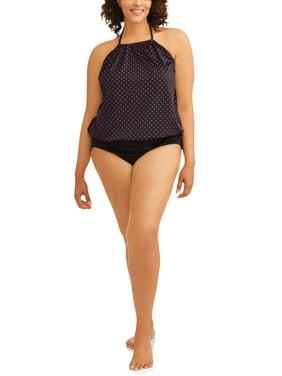 9ee0ec143b Product Image Women's Plus-Size High Neck One-Piece Swimsuit