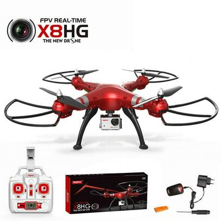 Syma X8HG 2.4Ghz 4CH 6-Axis WIFI FPV Gyro RC Quadcopter Drone HD Camera RTF Red