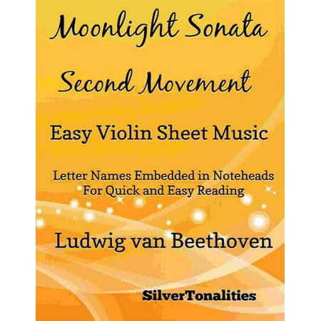 Moonlight Sonata Second Movement Easy Violin Sheet Music - eBook ()