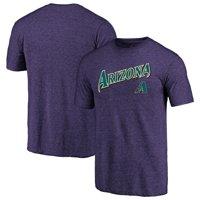 Arizona Diamondbacks Majestic Cooperstown Collection Series Sweep Tri-Blend T-Shirt - Purple
