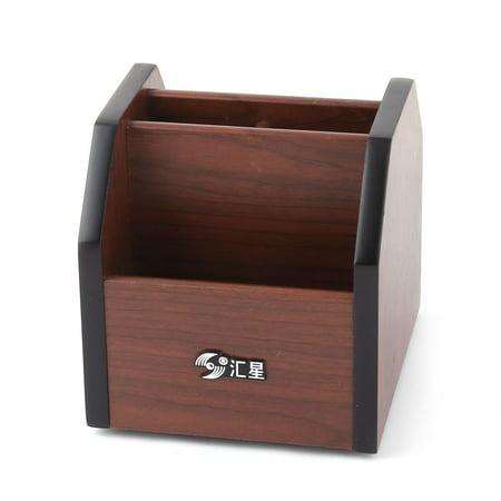 Office Home Wooden Desk Table Organizer Pen Holder