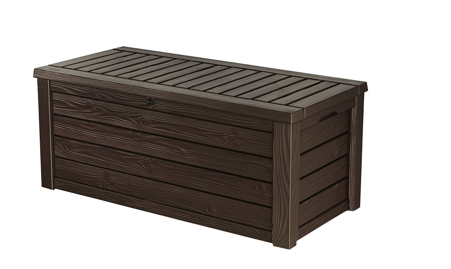 Keter Westwood 150 Gallon Outdoor Deck Box, Resin Patio Storage Bench Box by Keter