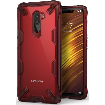 reputable site ee5b6 38fd7 Xiaomi Pocophone F1 Case, Ringke [Fusion-X] Ergonomic Transparent [Military  Drop Tested] Hard PC Back TPU Bumper Shock Resistant Proection Cover for ...
