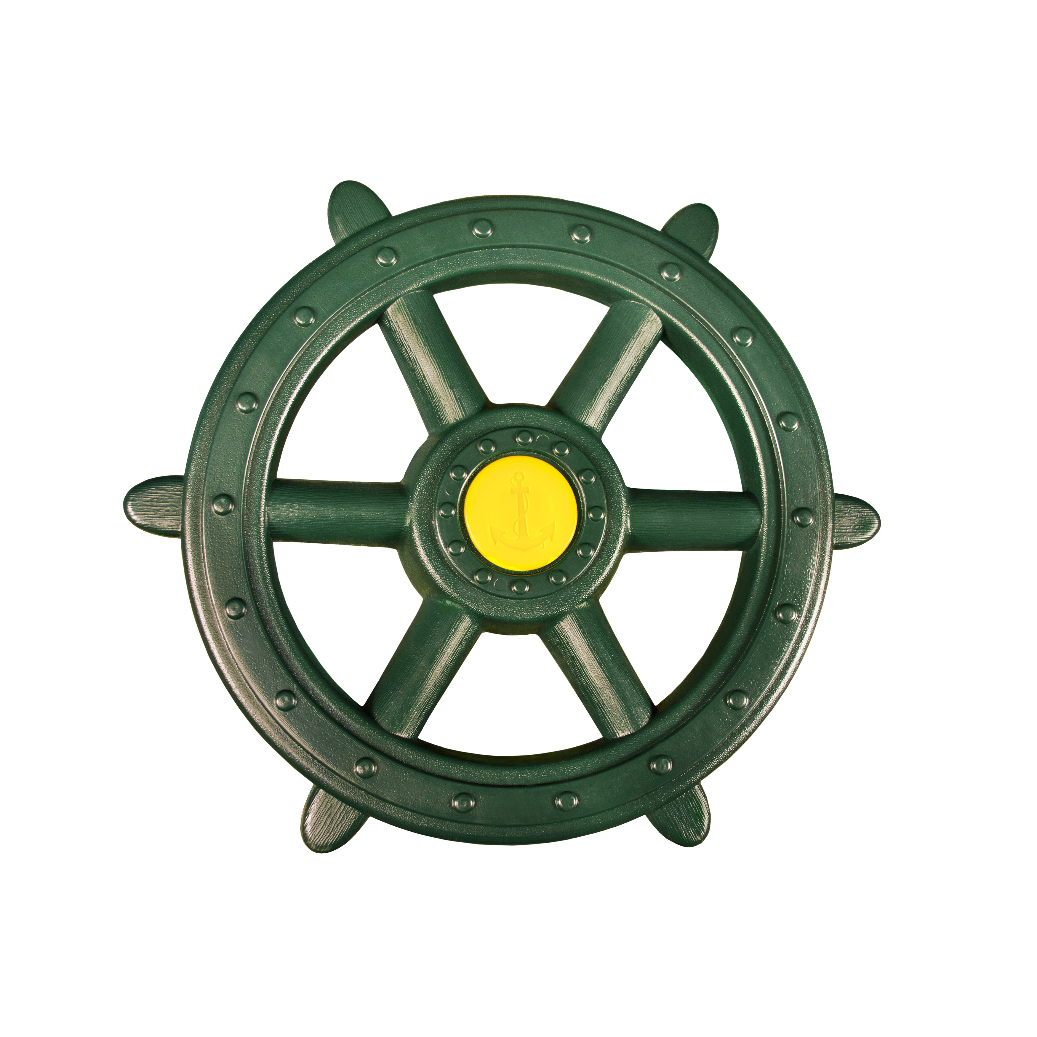 "Gorilla Playsets Large Green Toy Ship Wheel, 18.5"" Diameter"