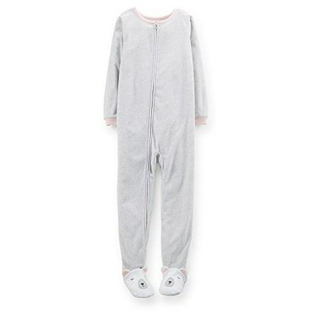 066906182 Carter s - Carter s Big Girls  MicroFleece Footed Pajamas