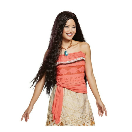 Moana Deluxe Adult Halloween Costume Accessory Wig (Halloween Duos Ideas)