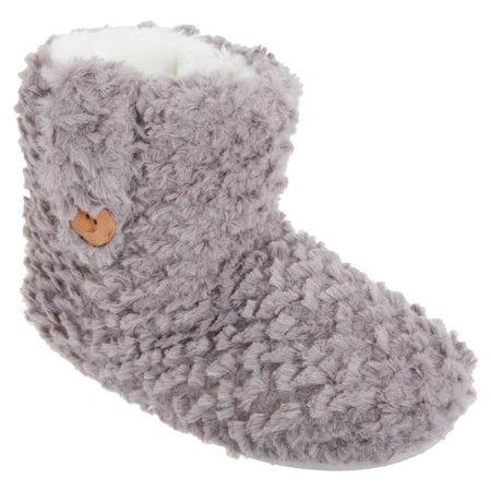 competitive price elegant and sturdy package reputable site Womens/Ladies Faux Fur Button Detail Slipper Boots