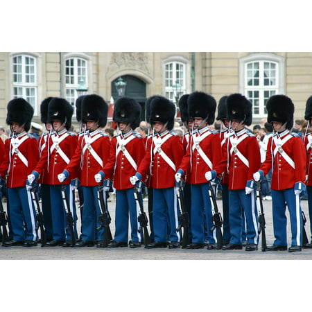 Royal Danish Cream - Canvas Print The Royal Lifeguards Music Corps Denmark Stretched Canvas 10 x 14