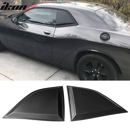 Compatible with 08-20 Dodge Challenger XE Style Window Louvers Scoops 2Pc Set Truck Window Louvers