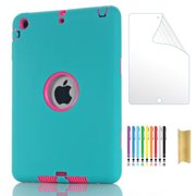 Dteck Case For iPad mini 1 2 3 Kids Shockproof Hard Cover with HD Screen Protector Film For iPad mini 1st 2nd 3rd Generation