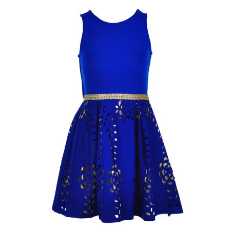 Sparkle Lace Fit and Flare Dress (Big - Big Puffy Dresses For Kids