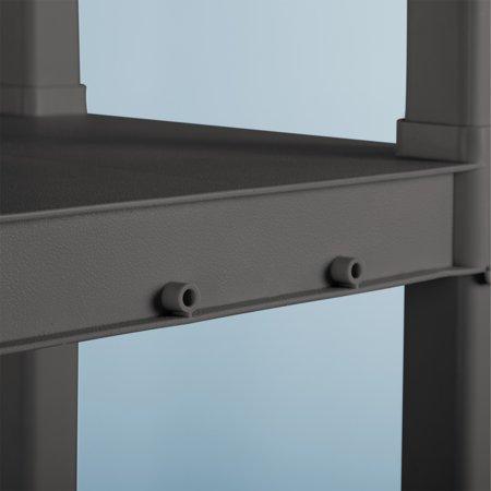 Sterilite 4 Shelf Unit Flat Gray