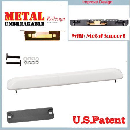 CF Advance For 04-06 Scion xb 1.5L Rear Liftgate Tailgate Handle Garnish Hatch with Metal Bracket and Switch Rubber Grommet 068 Polar White 2004 2005 2006 ()
