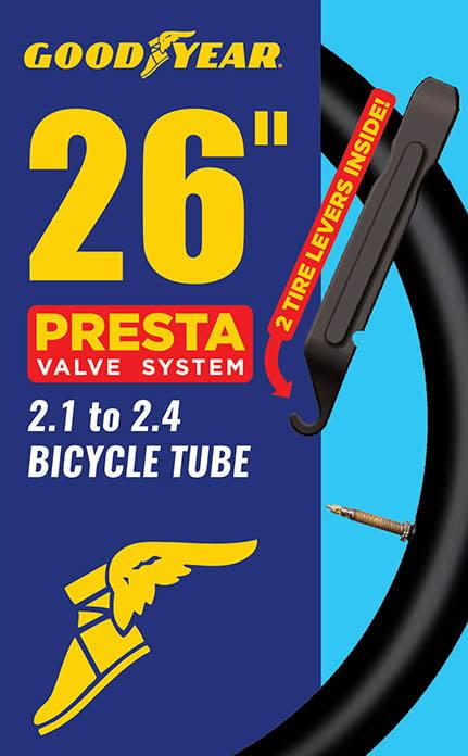 """26/"""" X 2.1-2.6 Butyl Tube Intérieur Presta Valve"""