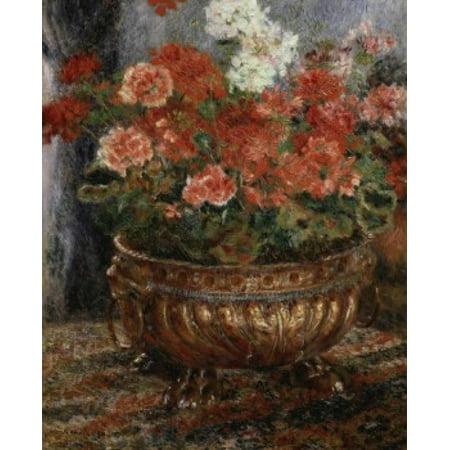 Bouquet Fleurs Halloween (Bouquet of Flowers  (Bouquet de Fleurs)  1880  Pierre-Auguste Renoir (1841-1919French)  Private Collection Neuilly Stretched Canvas - Pierre-Auguste Renoir (18 x)