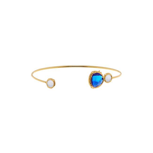 Henri Wills 610210105603 Triple Gemstone Open Bangle, Cobalt Blue Quartz by Henri Wills