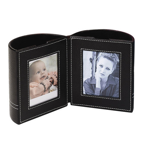 Preferred Nation Leather Pen Holder With Frames (Set of 2)