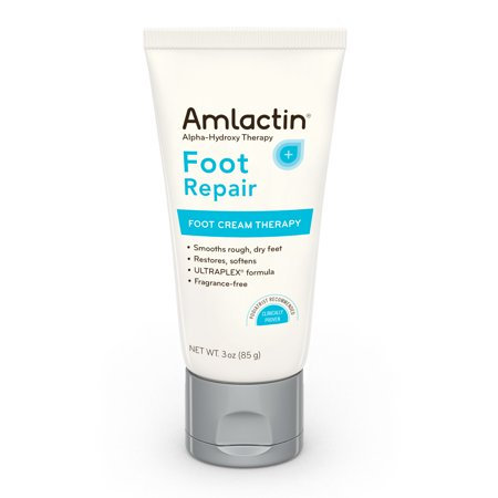 AmLactin Foot Repair Foot Cream Therapy AHA Cream, 3 Ounce Tube