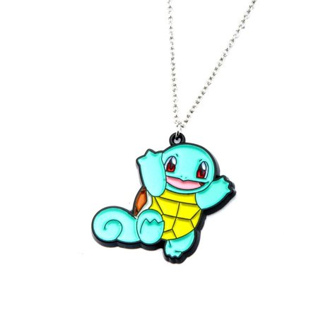 Pokémon Squirtle Women's Stainless Steel and Enamel Pendant, 18