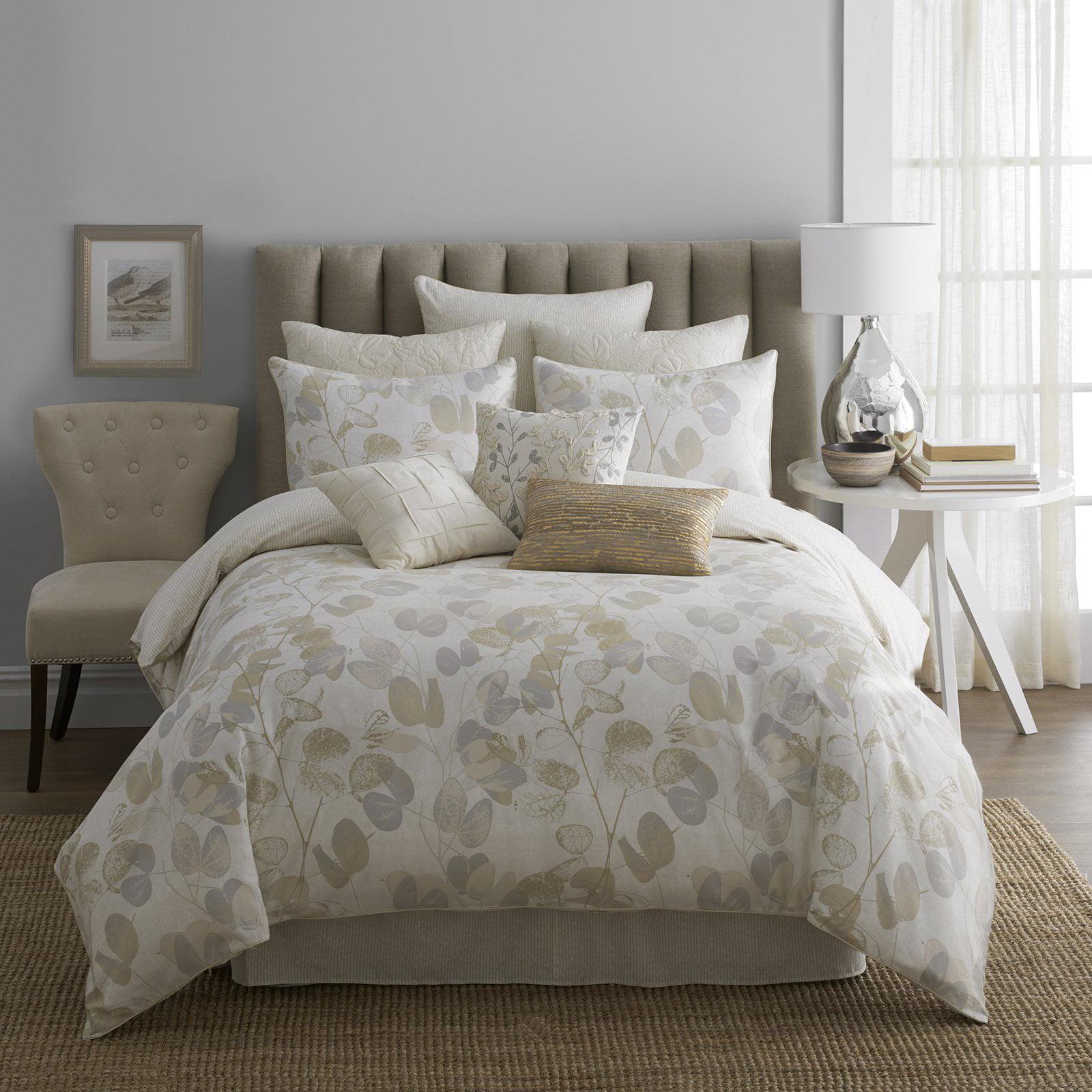modern living oxidized leaf comforter set  walmartcom -