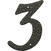 Hy-Ko 3-1/2 In. Black Die-Cast Aluminum Address Numbers