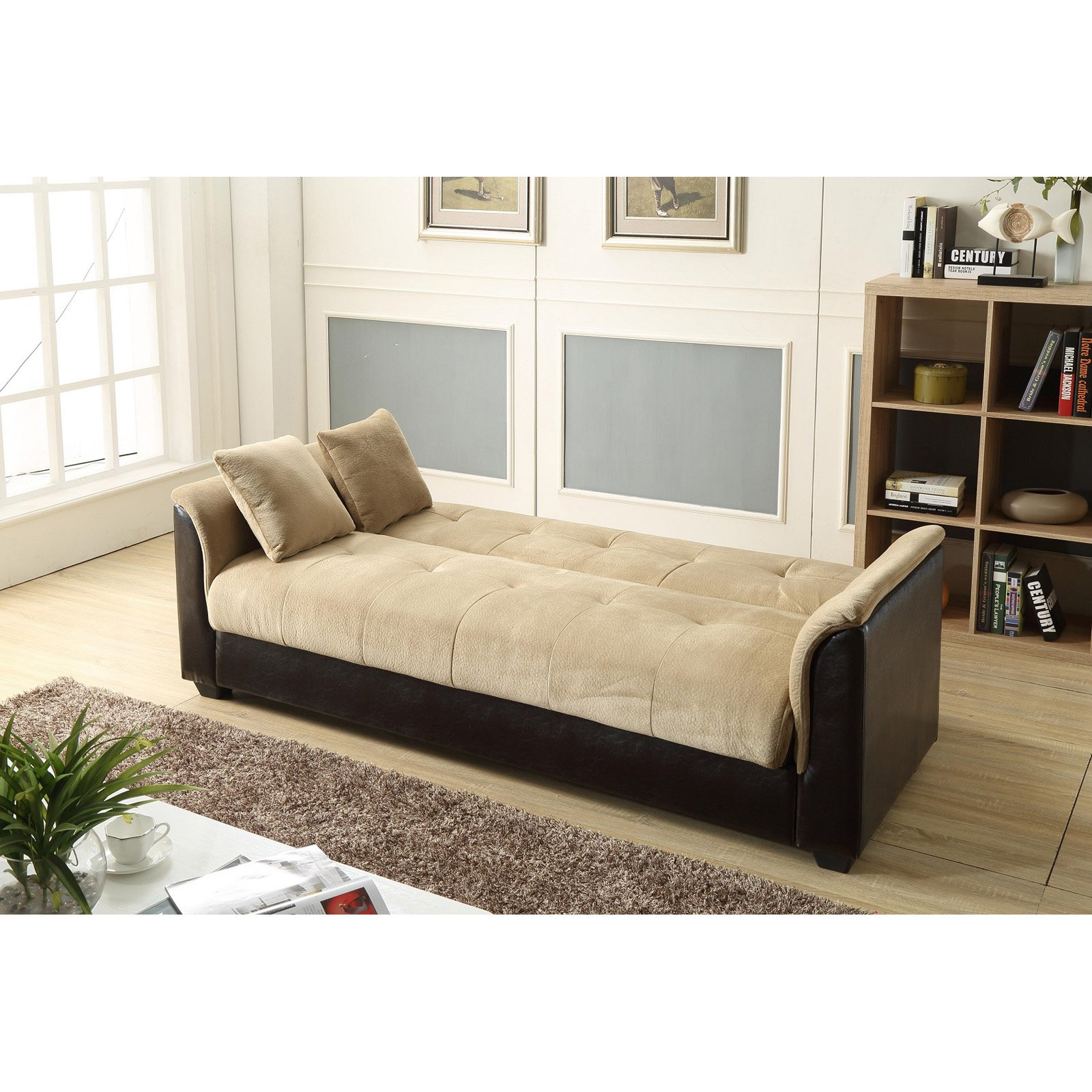 NH Designs Champion Futon Sofa Bed with Storage