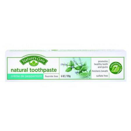 Nature's Gate Natural Toothpaste, Creme De Peppermint, 6 Oz