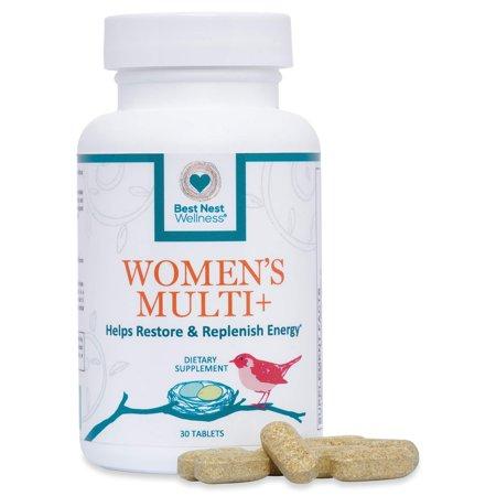 Best Nest Women's Multi+ | Methylfolate, Methylcobalamin (B12), Vegan, Multivitamins, Probiotics, Made with 100% Natural Whole Food Organic Blend, Once Daily Multivitamin Supplement, 30 Ct Superhero