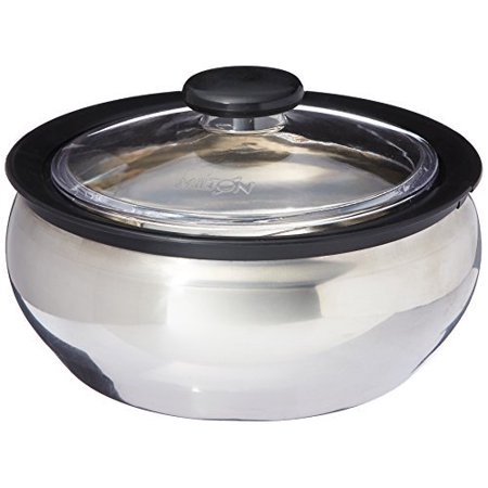 Milton ClearSteel Hot Pot Keep Warm/Cold Insulated Casserole with Stainless Steel Insert and Clear Lid, 1500ml/Small, (Pot Insert)