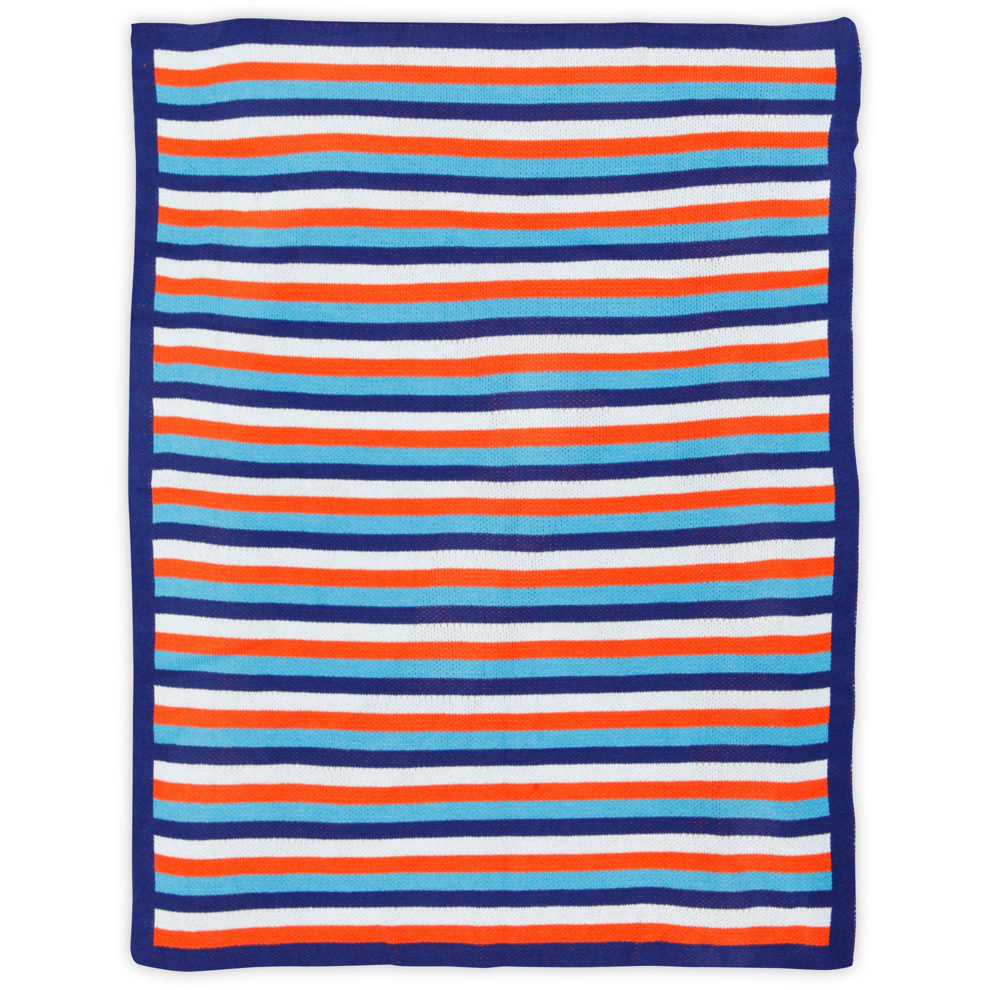 Bananafish Studio Anchors Away Stripe Knit Blanket