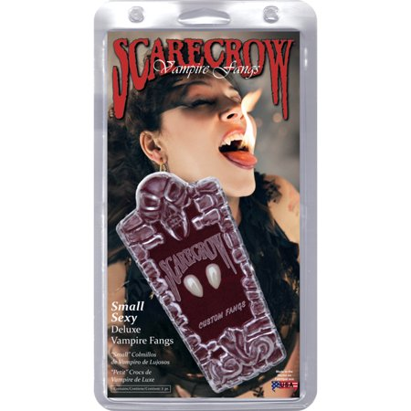 Small Love Bites Fangs, Costume Vampire Fangs](Scarecrow Retractable Fangs)