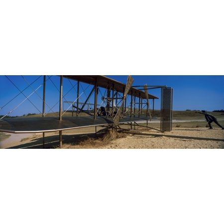 Wright Flyer Sculpture At Wright Brothers National Memorial Kill Devil Hills Kitty Hawk Outer Banks North Carolina Usa Poster Print