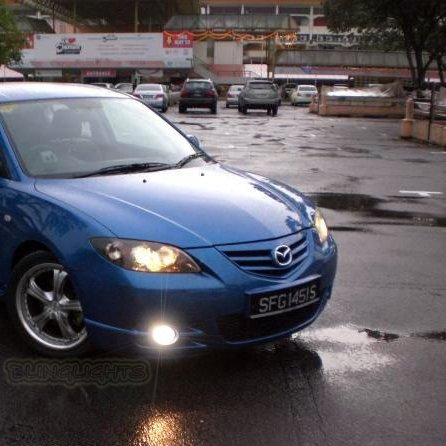 Captivating 2004 2005 2006 Mazda3 Mazda 3 SP23 BK Series 1 Halo Fog Lamps Angel Eye  Driving