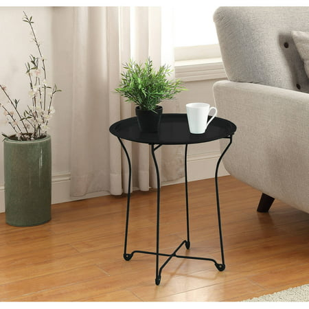 Mainstays Metal Tray Side Table, Multiple - Scallop Tray Table