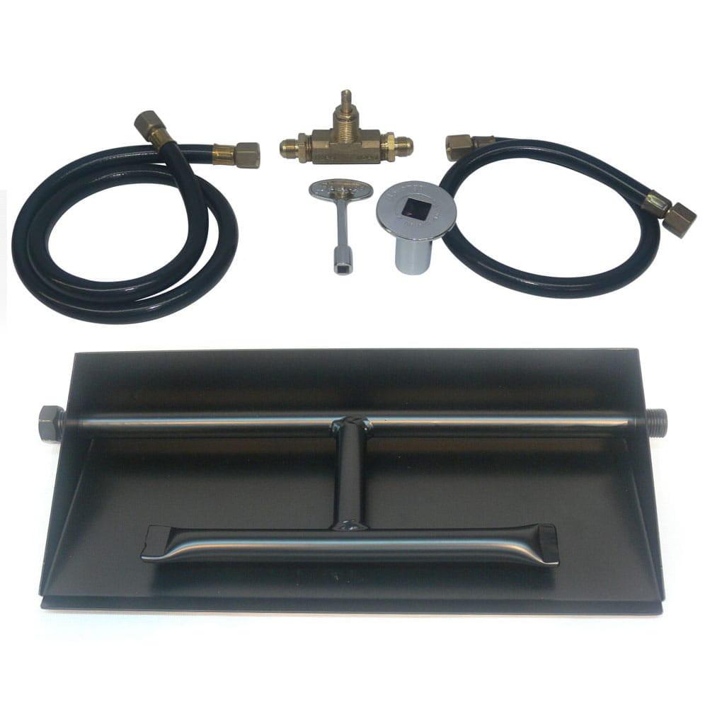 32 inch Powder Coated Dual Burner Pan Kit NG